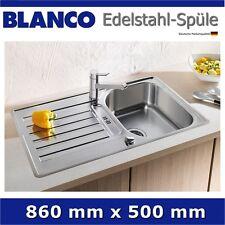 Edelstahl Spüle 86 x 50 cm Blanco  BLANCOLANTOS 45 S Einbauspüle Spülbecken