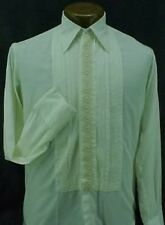 VINTAGE  RUFFLED TUXEDO SHIRT IVORY 14.5/34 MENS SMALL AFTER SIX GREAT DEAL