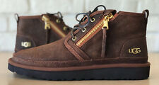 UGG Neumel Lux Zip Chestnut Water-resistant Leather Ankle Boots Shoe Size 11 Men