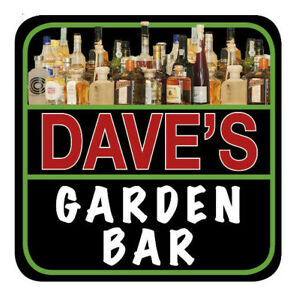 6 Personalised Novelty Beer Mats, Coasters, Garden, Home Bar, Pub or Man Cave