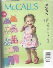 McCALL'S SEWING PATTERN INFANTS TOP DRESSES BLOOMERS & PANTS NBN - XIG  M6912
