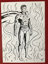 Unpublished super villain. A4 size. Ink on thick paper.