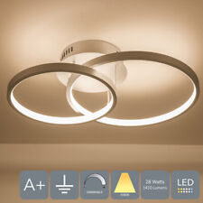 HARPER LIVING LED Halos Shaped Ceiling Light, Silver Finish Dimmable, 28W, 3000K