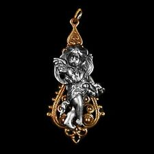 Gold & Silver Cherub Angel Necklace Pendant NEW