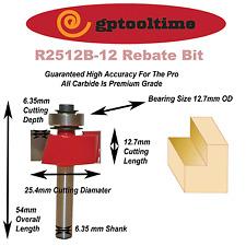 Router Bit Tuncsten Carbide  Rabbeting  25.4  DIA RB-R25B-6