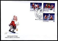 Weihnachten. Weihnachtsmänner. FDC. Lettland 1998