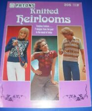 Patons Knitted Heirlooms Knitting Pattern Book 205