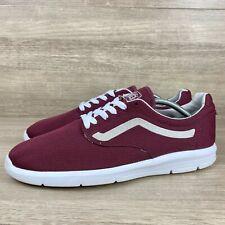 Vans Ultra Cush Lite Burgundy White Sneakers Men's Shoe Size 11.5
