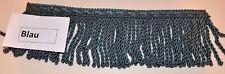 (EUR 1,60/m) Fransenborte - 11cm Breite - Farbe BLAU
