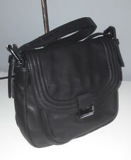 CALVIN KLEIN Black Leather Shoulder/Grab Handbag Small Bag