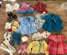 Lot of Vintage Doll Clothing Dresses Coat Shoes Fit Madame Alexander? Unbranded