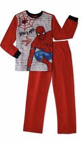 NWT Boys Marvel SPIDER-MAN Size 4 5 Flannel Pajamas PJs 2 Pc Set NEW