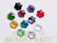 New 10pcs 14X7mm Snowflake Faceted Glass Pendant Loose Spacer Beads Mixed Color