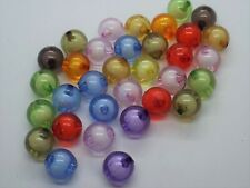 12MM Multicoloured Round Beads  with white centre UK SELLER MULTIBUY DISCOUNT