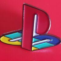 PlayStation Logo Pin Old School Gaming Enamel Retro Metal Brooch Badge Lapel
