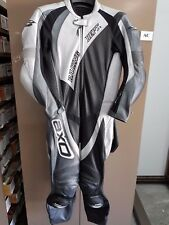 AXO LEATHER RACE ONE PIECE SUIT 50 SMALL GREY/BLACK