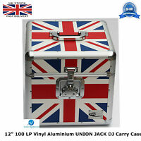 "NEO ZILLA Flight DJ Carry Case to Store 100 LP 12"" Vinyl Record UNION JACK TOUGH"
