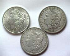 1883 & 1888 & 1891 MORGAN SILVER DOLLAR NICE TRIO!