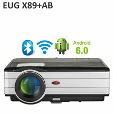 EUG 1080p Projector Full HD Android Blue-tooth Wireless Home Theater YouTube US