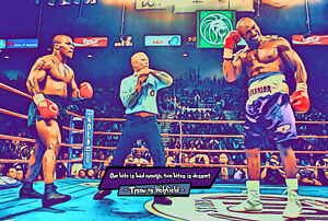 Tyson vs Holyfield 2 - The Ear Comic Icons Art Print (Available In 4 Formats)