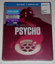 Alfred Hitchcock's Psycho (Blu-ray Disc, 2014, Limited Edition Steelbook) NEW