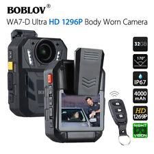 """BOBLOV WA7-D HD 1296P 32GB 2.0"""" Body Worn Recorder Remote Control 170°FOV New"""