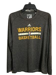Adidas NBA Golden State Warriors Basketball Long Sleeve T-Shirt Ultimate Tee Lrg