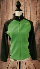 The North Face Boys Girls Green and Black Fleece Size Large 14/16