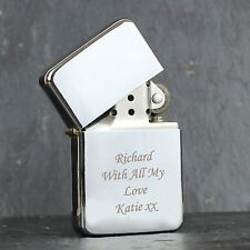 Personalised Silver Lighter - Free Laser Engraving - Birthdays, Anniversaries,