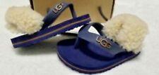 NIB UGG Yia Yia Shearling Blue Flip Flops Sandals 2 / 3  6-12 Months