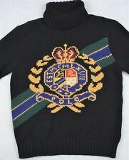 Polo Ralph Lauren Retro Wool Crown Crest Intarsia Ski Turtleneck Sweater XXL NWT