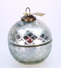 Zodax Ornament Jar Candle Snowberry Glode Candles Christmas Decor Holiday Gifts