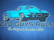 OLD GUYS RULE CORVETTE THE ORIGINAL AMERICAN IDOL S/S SIZE XXL T-SHIRT