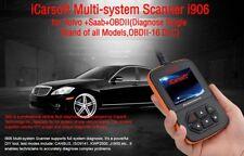 ICarsoft I906 OBDII Diagnóstico Escáner 4 Volvo Saab SRS restablecer borrar vida dice