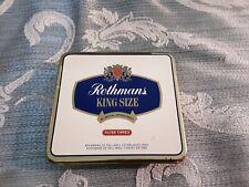 Vintage EMPTY Cigarette Tin Rothmans King Size