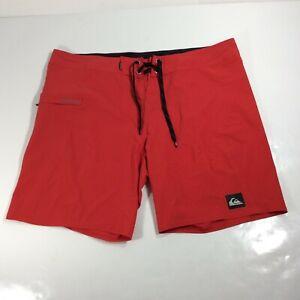 Quiksilver Men's Size 38 Red Board Swim Shorts