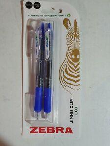Zebra Ballpoint Pens Blue 2 Pack Jimnie Clip Eco