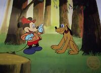 """Disney """"The Pointer"""" LIMITED EDITION Serigraph Cel of Mickey & Pluto"""