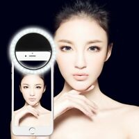 Rechargable LED Selfie Ring Light Flash Fill Light Clip For Samsung and iPhones
