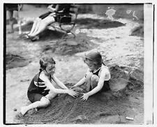 Catherine & Nessie Sourley,Child,Bathing Suit,Recreation,Summer Fun,1920 6871