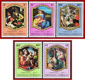 Trinidad & Tobago 1970 Christmas, ART, painting  Sc 191-195, SG 386-389  MNH