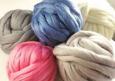 Chunky Wool Yarn Arm Knitting Super Bulky Merino Wool Roving Felting DIY
