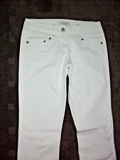 Portmans: Size: 8. Modern Design WHITE Straight-Leg, Mid to Low-Rise Denim Jeans