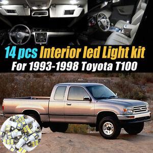 14Pc Super White Car Interior LED Light Bulb Kit for 1993-1998 Toyota T100
