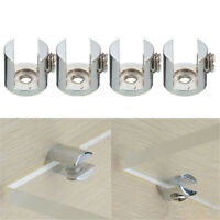 2/8/16pcs Glass Shelf Support Clamp Brackets Clip Polished Chrome Shelves 6-12mm