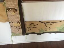 Lambs & Ivy Baby Cocoa Monkey Crib Set Dust Ruffle & Crib Bumper Jungle Nursery