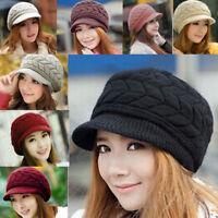 Women Ladies Beret Winter Warm Baggy Beanie Knit Crochet Hat Slouch Ski Cap Lot