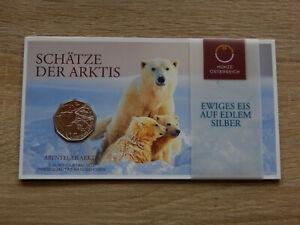 Österreich: 5 Euro Silbermünze 2014 = Schätze der Arktis im Original Folder!!!