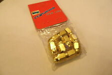 NOS 1980's Alloy BMX Valve Caps Gold Nuts  x 10   (no100)