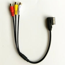 For VW For Audi AMI A3 A4 A6 A7 A8 Q5 Q7 R8 MMI RCA Video Audio Input AUX Cable